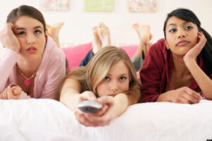 AMRMY3 Girls Watching Television