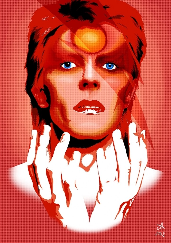 David Bowie Ziggy Stardust Costume Graphic Pertaining To David Bowie Ziggy Stardust - Fashion Gens
